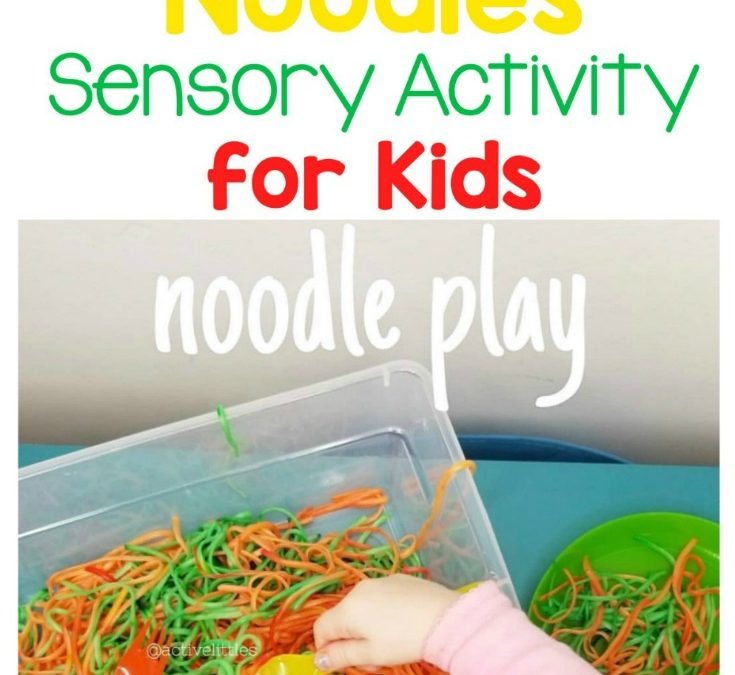 Halloween Noodles Sensory Activity Bin