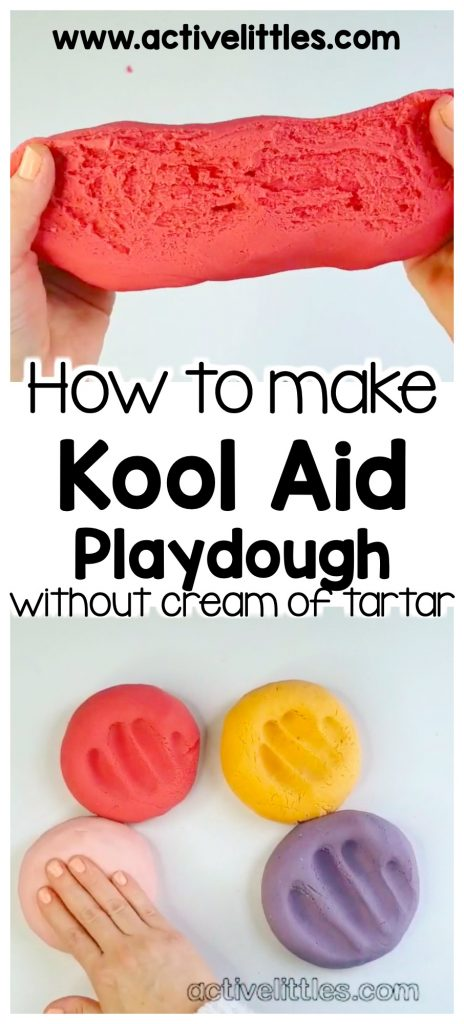 how to make KoolAid play dough recipe without cream of tartar