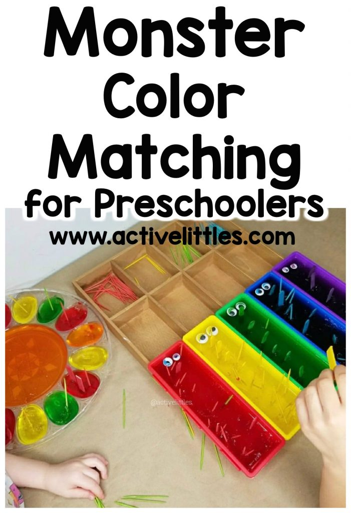 monster color matching games for preschool