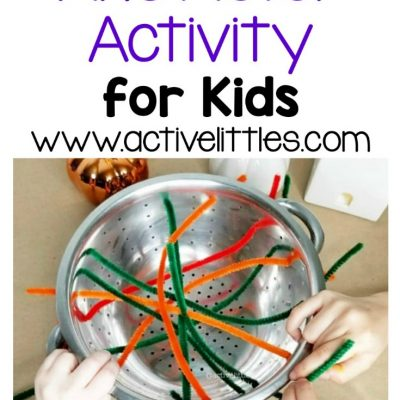 pipe cleaner web fine motor activity for kids copy