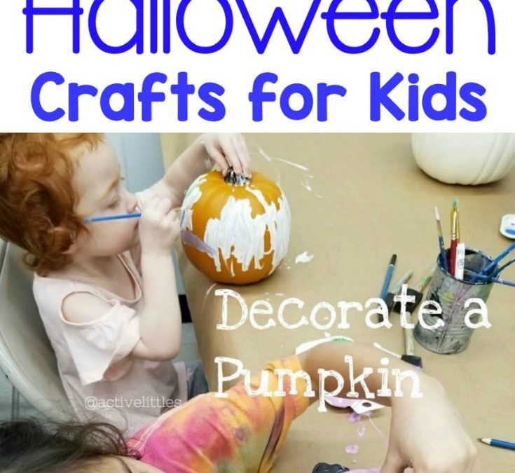 Decorate a Pumpkin – Halloween Crafts for Kids