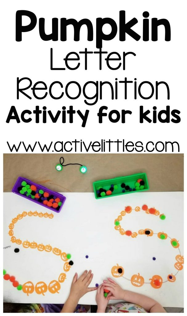 pumpkin halloween letter recognition activity for kids