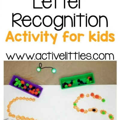 pumpkin letter recognition activity for kids at home
