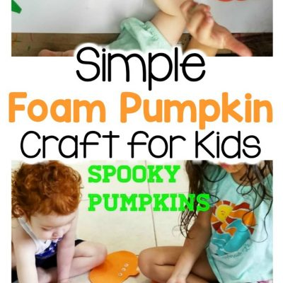 simple foam pumpkin craft for kids at home
