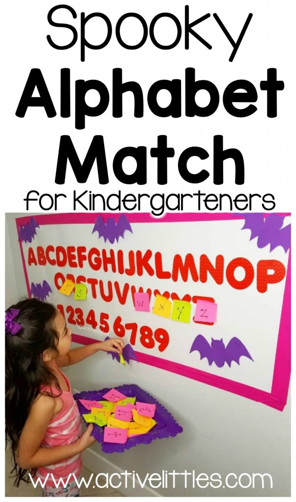 spooky alphabet match for kindergarten