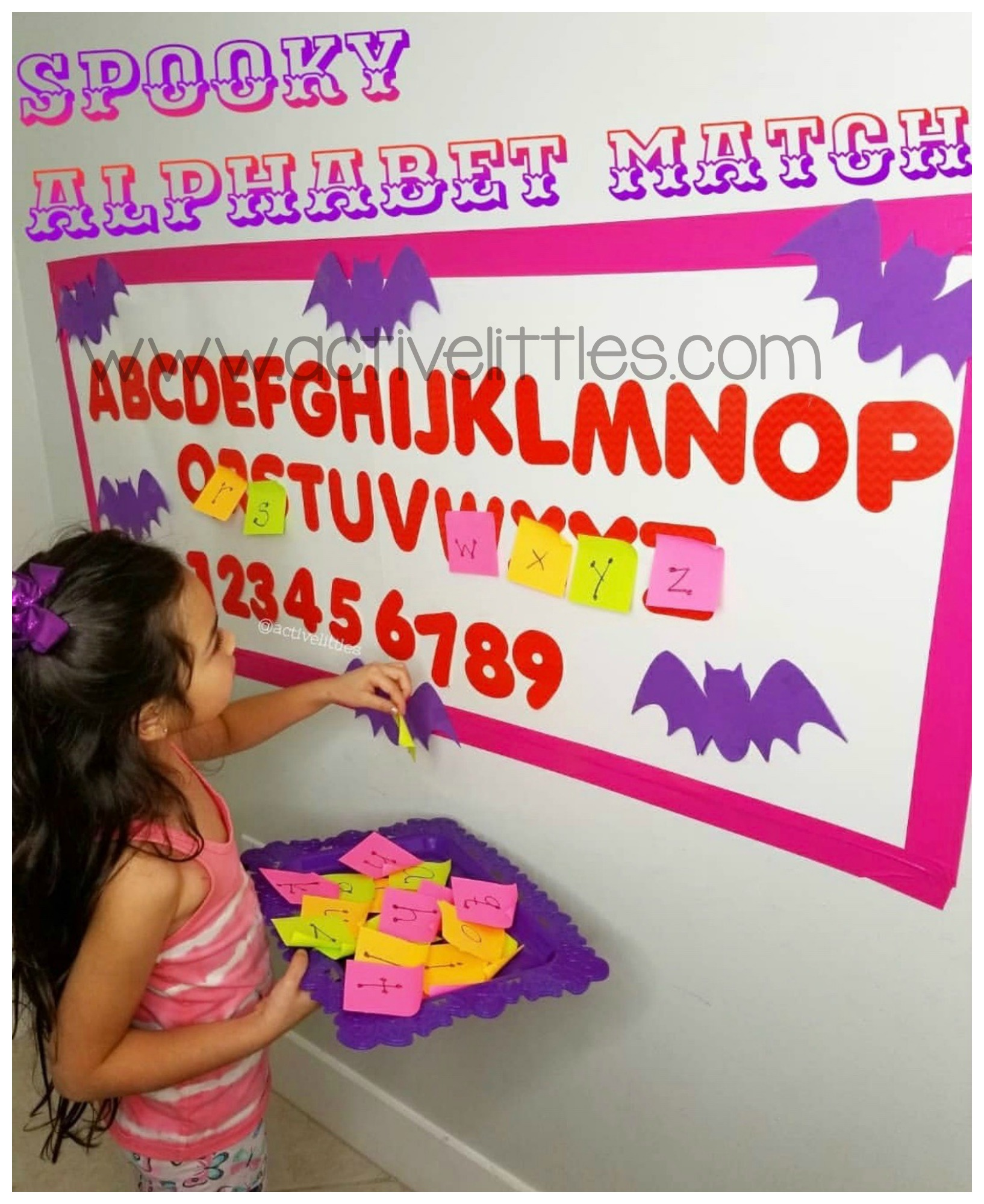 spooky alphabet match halloween activities for kids