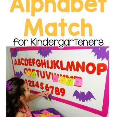 spooky alphabet match kindergarteners
