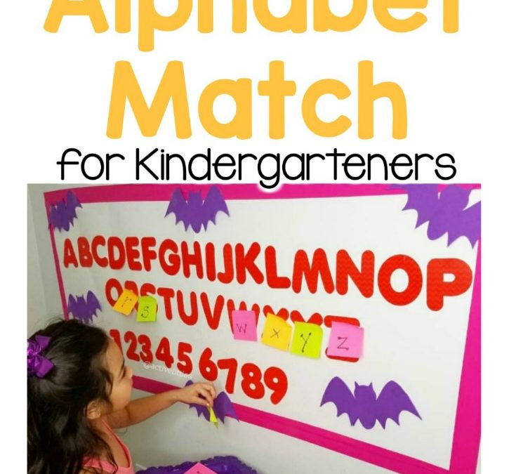 Spooky Alphabet Match for Kindergarteners
