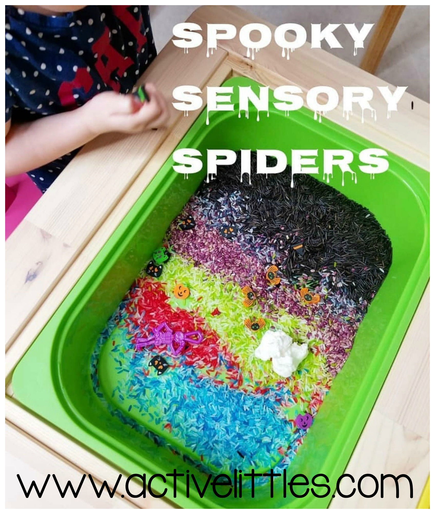 spooky sensory spiders halloween activities for toddlers