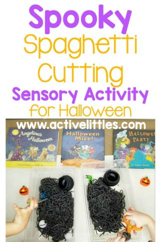 Spooky Spaghetti Cutting Sensory Activity