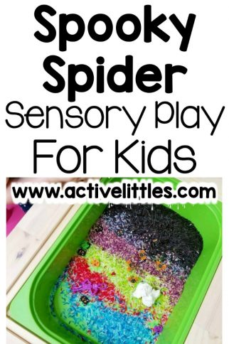Spooky Spider Sensory Play for Kids