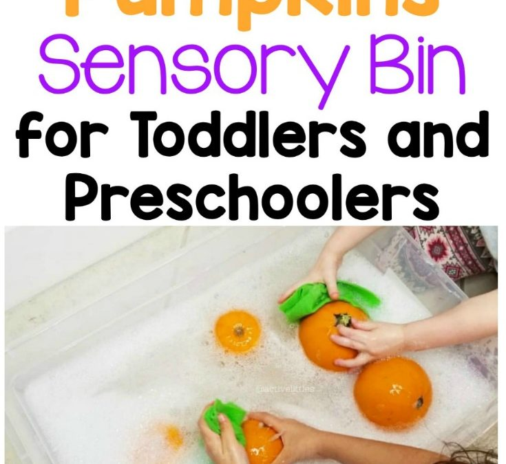 Washing Pumpkins Sensory Bin for Toddlers and Preschoolers