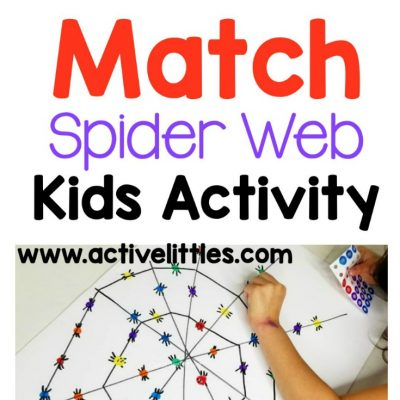 color match spider web kids activity at home
