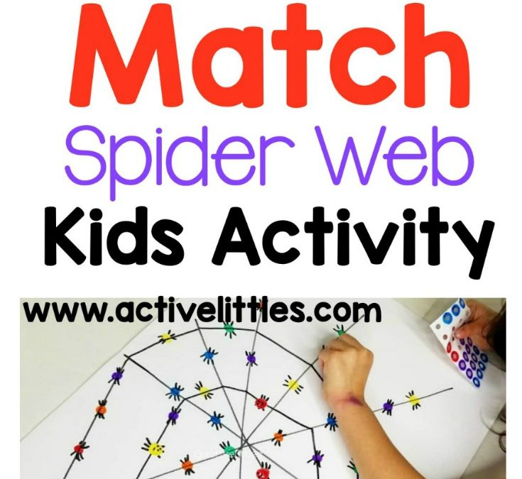 Color Match Spider Web Indoor Kids Activity