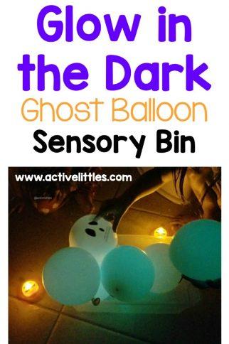 Glow in the Dark Ghost Balloon Sensory BinActivity