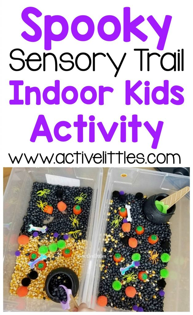spooky sensory trail activity for kids