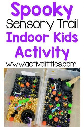 Spooky Sensory Trail Indoor Kids Activity