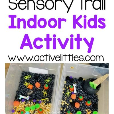 spooky sensory trail indoor activity for kids at home
