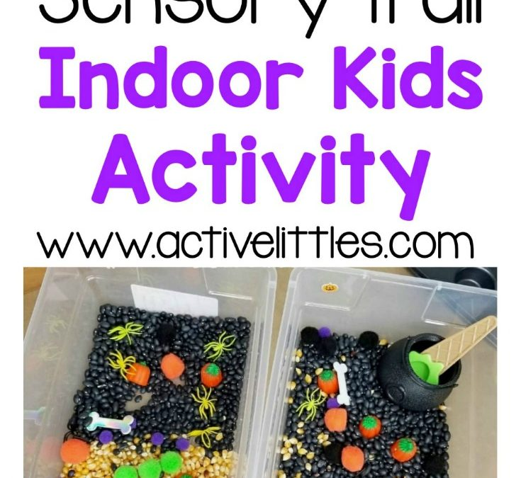 Spooky Sensory Trail Indoor Kids Activity
