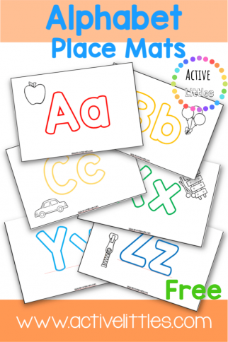 Alphabet Placemats for Early Learning