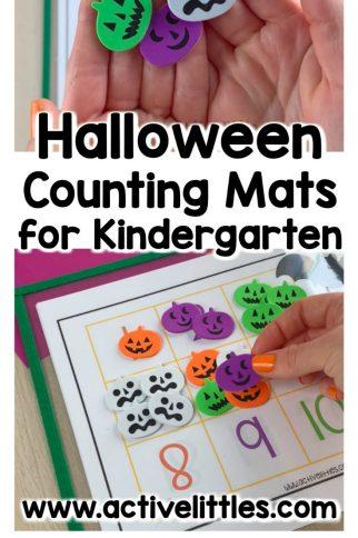 Halloween Numbers 1-20 Counting Mats for Preschool and Kindergarten