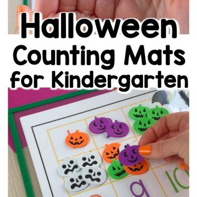 Halloween Counting Mats for Preschool and Kindergarten
