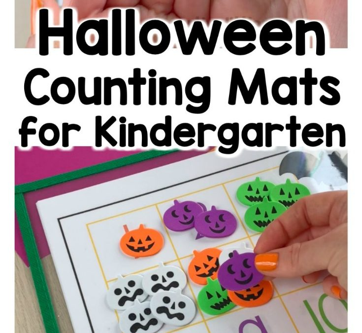 Halloween Numbers 1-20 Counting Mats for Preschool and Kindergarten