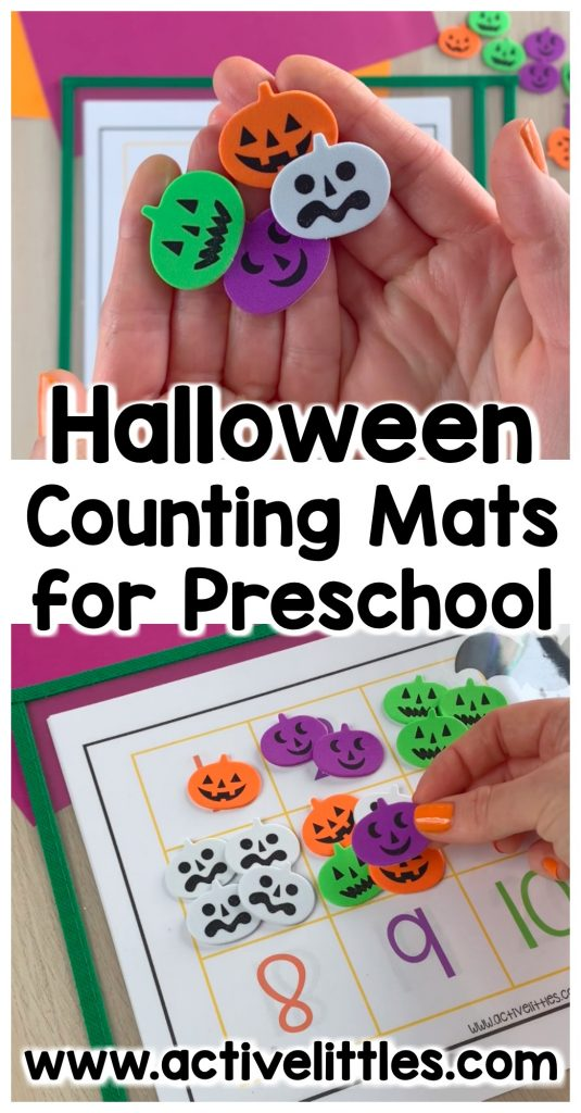 Halloween counting mats preschool