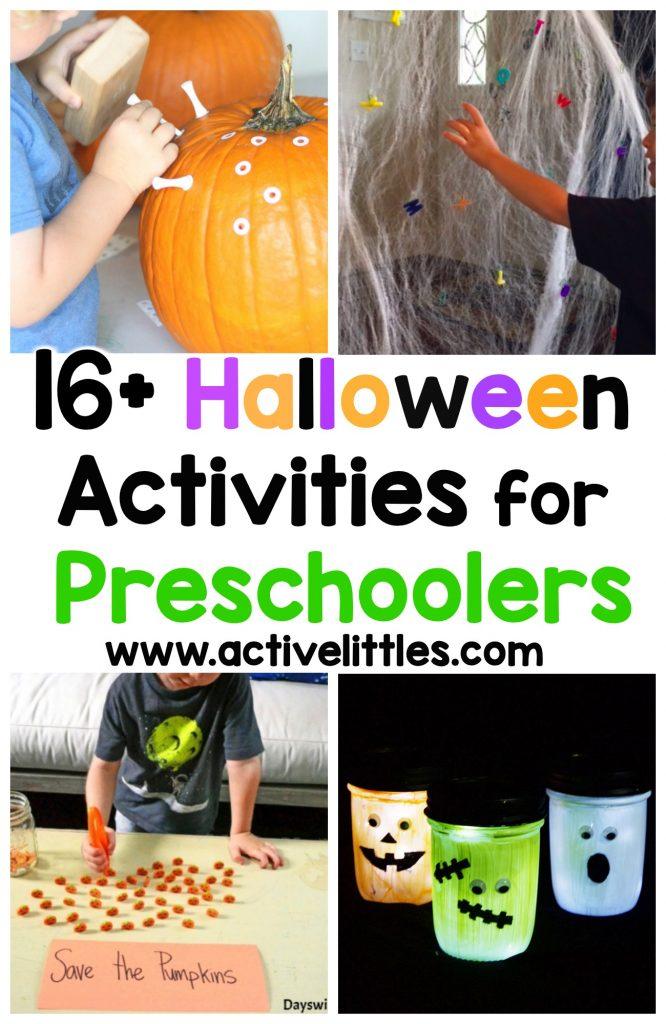 Over 16 halloween activities for preschoolers