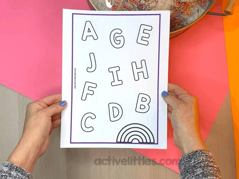alphabet match for kids