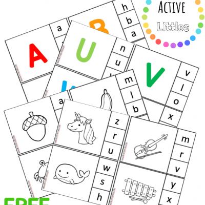 alphabet match clip cards printable