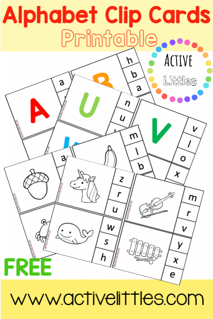 alphabet match clip cards printable