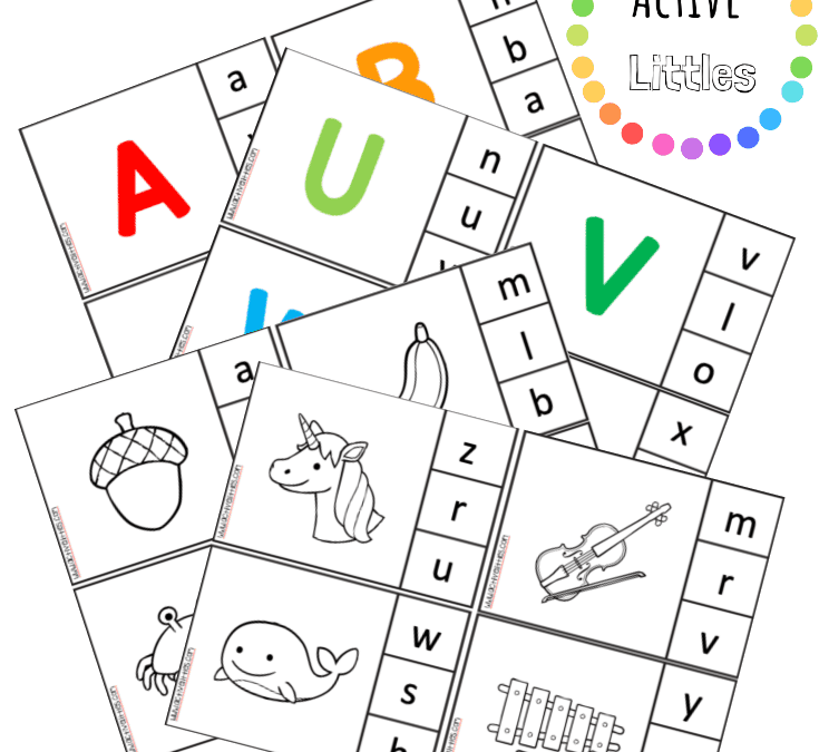 Alphabet Clip Cards Printable