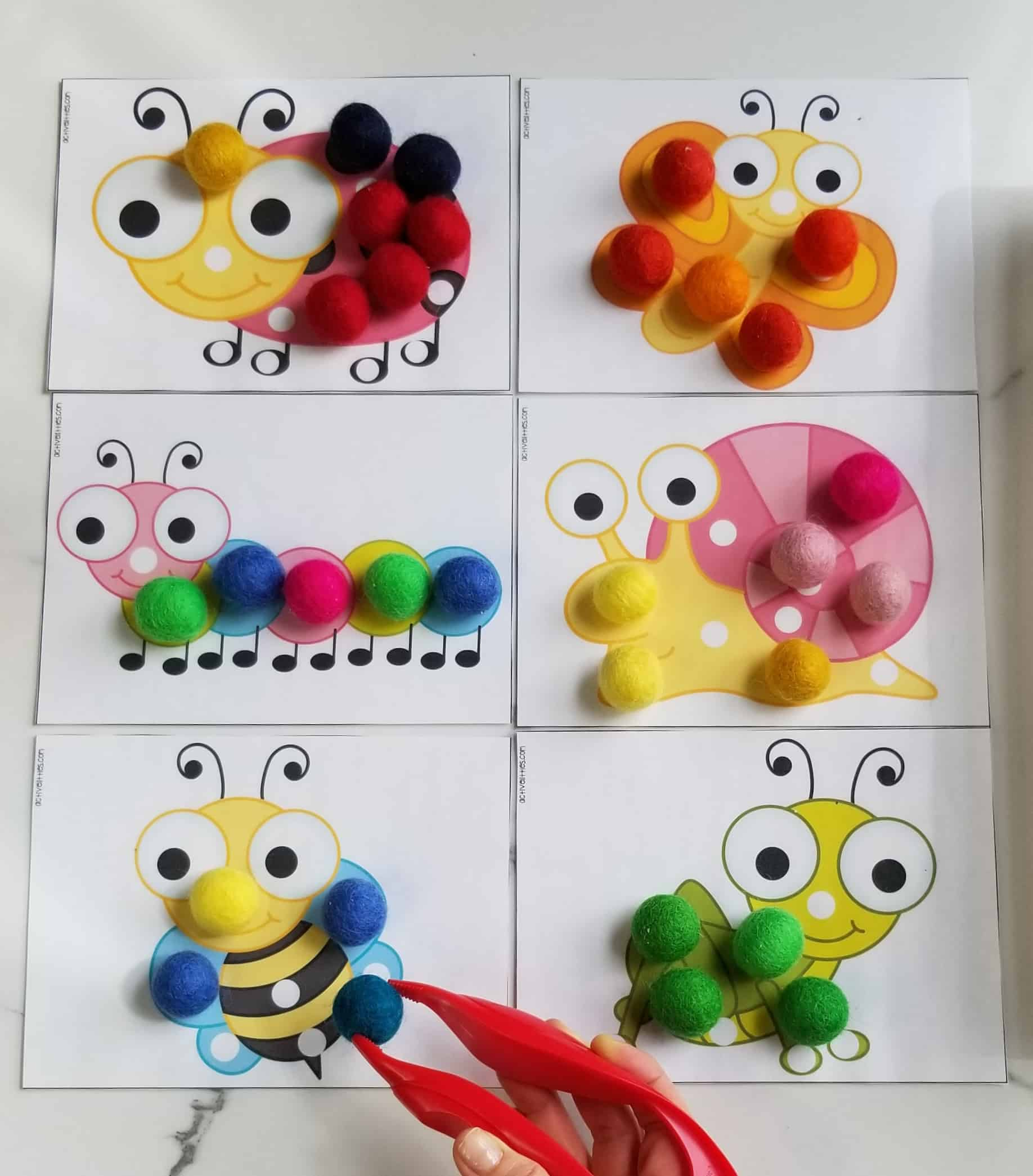 bugs activity for kids and preschool