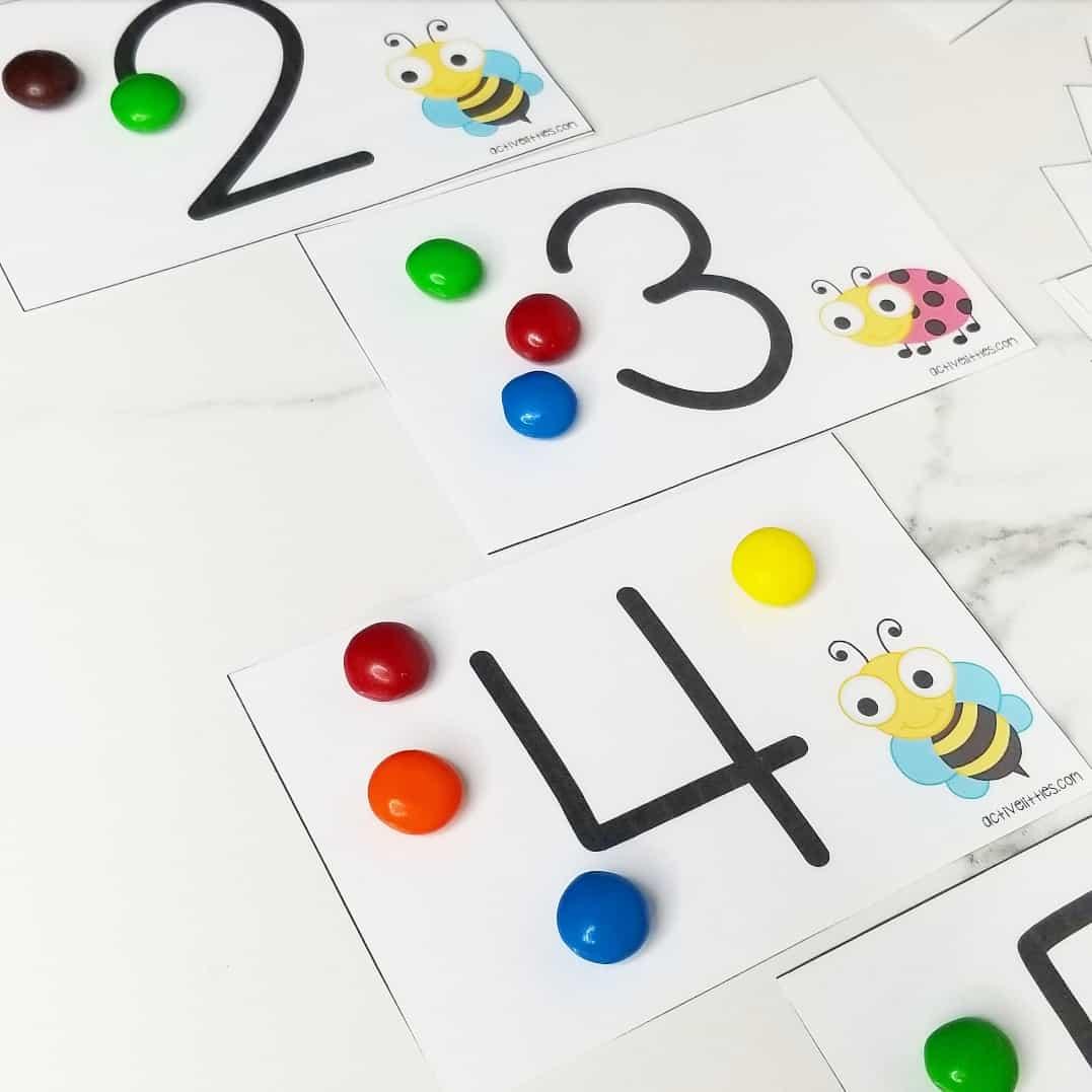 counting 1-20 activities for preschool