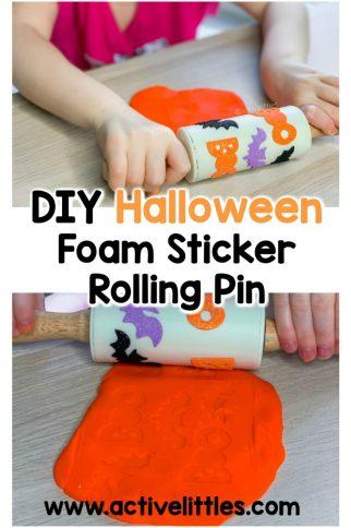 Halloween Foam Sticker Rolling Pin for Playdough DIY