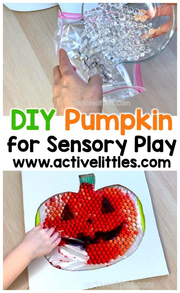 diy pumpkin for sensory play