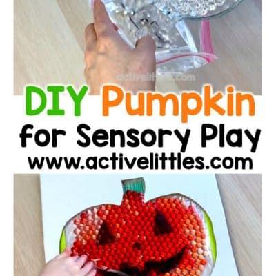 diy pumpkin for sensory play for kids