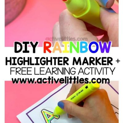 diy rainbow highlighter