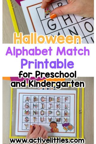 Halloween Alphabet Match Place Mats for Preschool and Kindergarten