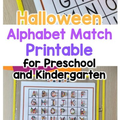 halloween alphabet match printable for preschoolers and kindergarten