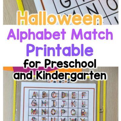 halloween alphabet match printable for preschoolers and kindergarten