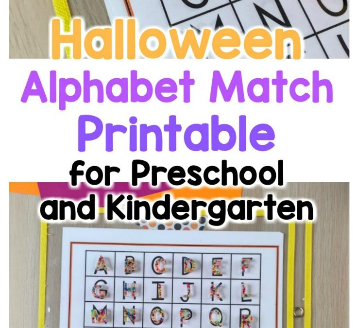 Halloween Alphabet Match Place Mats for Preschool and Kindergarten