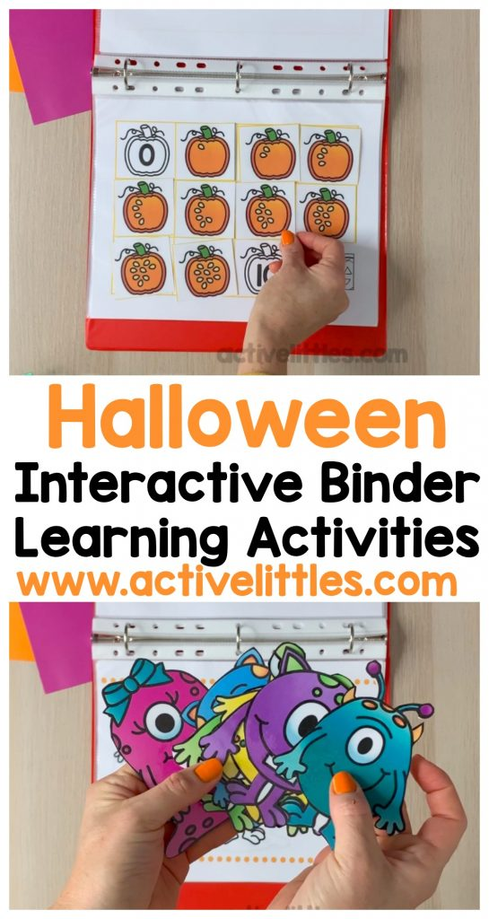 halloween interactive binder learning activities