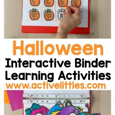 halloween interactive binder learning activities for kids
