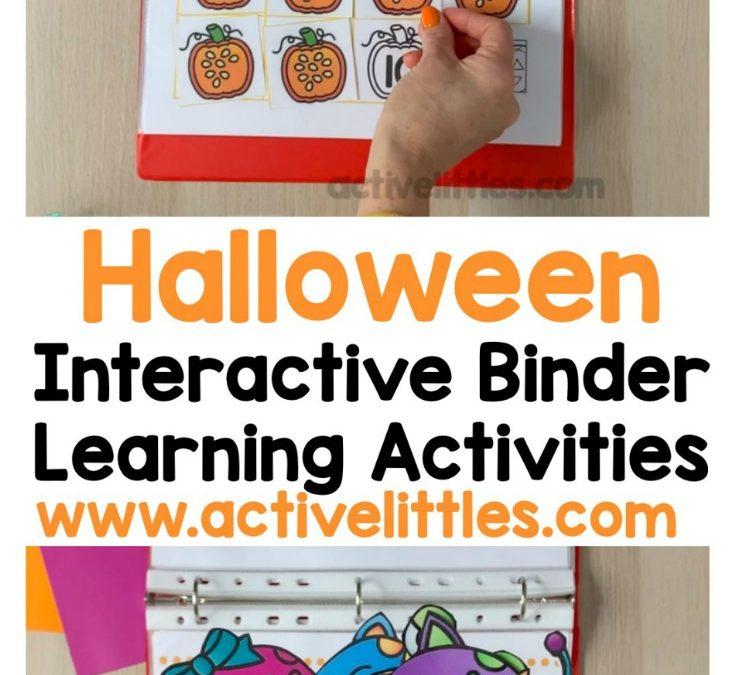 Halloween Interactive Activity Binder Printable for Preschoolers and Kindergarteners