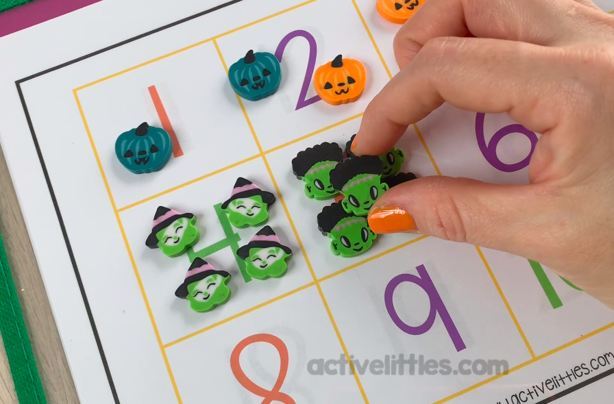 homeschooling ideas counting mats