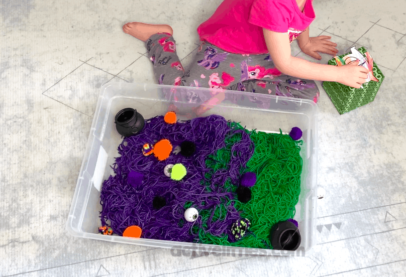 kids monster sensory bins