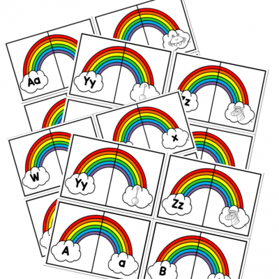 rainbow alphabet match
