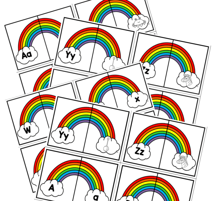 Rainbow Alphabet Match Printable